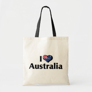 Amo la bandera de Australia Bolsa Tela Barata