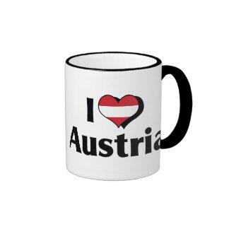 Amo la bandera de Austria Tazas