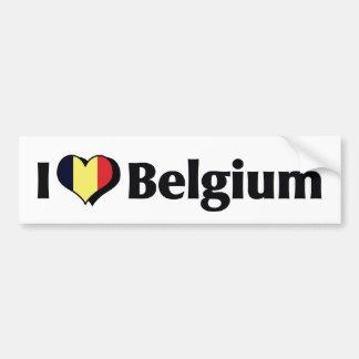 Amo la bandera de Bélgica Pegatina Para Auto
