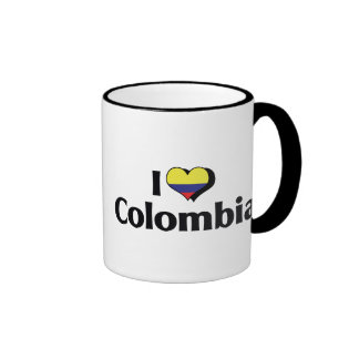 Amo la bandera de Colombia Taza De Dos Colores