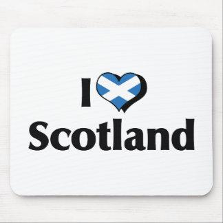 Amo la bandera de Escocia Alfombrilla De Raton
