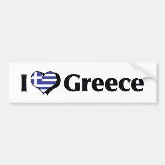 Amo la bandera de Grecia Pegatina Para Auto