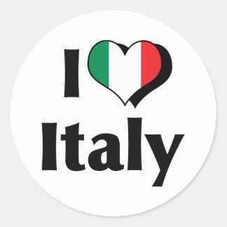 Amo la bandera de Italia Etiquetas