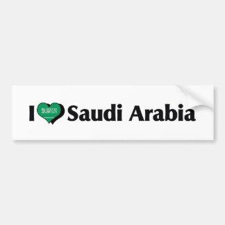 Amo la bandera de la Arabia Saudita Pegatina Para Auto