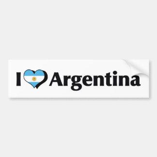 Amo la bandera de la Argentina Pegatina Para Auto