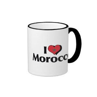Amo la bandera de Marruecos Taza De Dos Colores