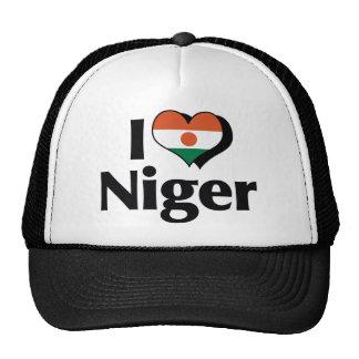 Amo la bandera de Niger Gorros