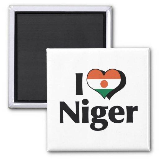 Amo la bandera de Niger Imán Cuadrado