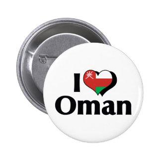 Amo la bandera de Omán Pin