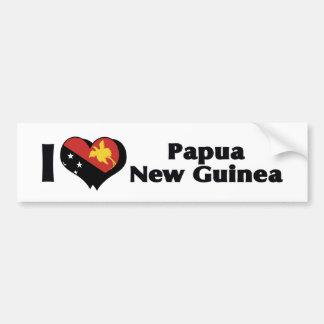 Amo la bandera de Papúa Nueva Guinea Pegatina Para Auto