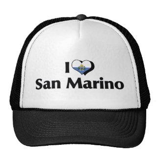 Amo la bandera de San Marino Gorro De Camionero