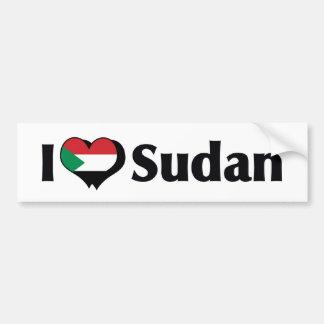 Amo la bandera de Sudán Pegatina Para Auto