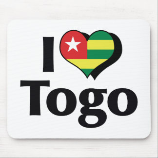 Amo la bandera de Togo Tapete De Ratones