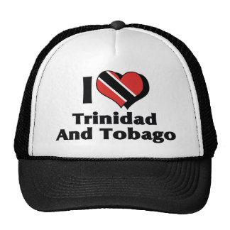 Amo la bandera de Trinidad and Tobago Gorros