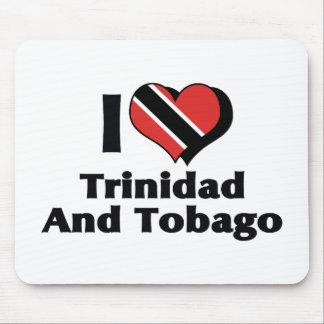 Amo la bandera de Trinidad and Tobago Mousepads