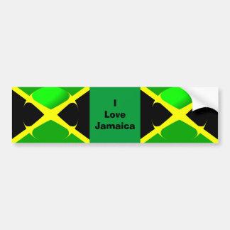 Amo la bandera jamaicana de la pegatina para el pa pegatina para auto