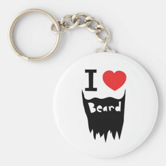 Amo la barba llavero redondo tipo pin