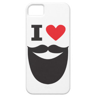 Amo la barba - rojo iPhone 5 carcasas