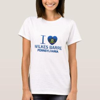 Amo la barra de Wilkes, PA Playera