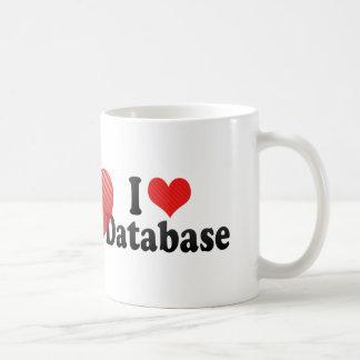 Amo la base de datos taza básica blanca