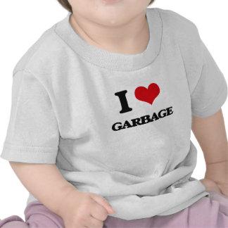 Amo la basura camisetas