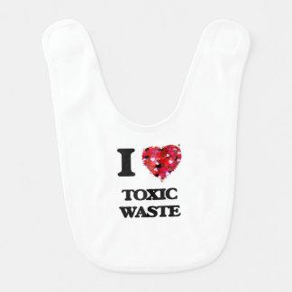 Amo la basura tóxica baberos