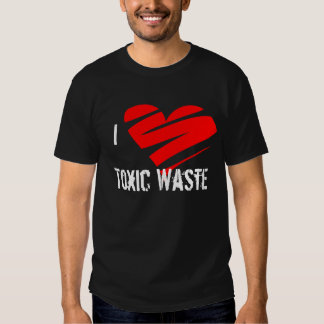 Amo la basura tóxica, tóxico, basura, camisa, polera