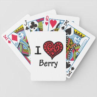 Amo la baya baraja de cartas
