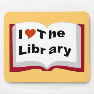 Amo la biblioteca alfombrilla de raton