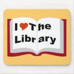 Amo la biblioteca alfombrilla de ratones
