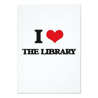 Amo la biblioteca invitación 12,7 x 17,8 cm
