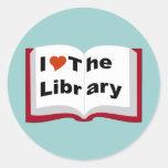 Amo la biblioteca pegatinas