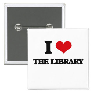 Amo la biblioteca chapa cuadrada 5 cm