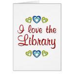 Amo la biblioteca tarjetón