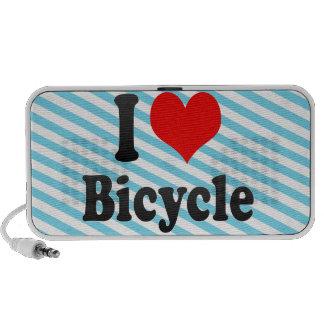 Amo la bicicleta laptop altavoz