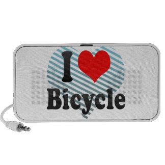 Amo la bicicleta altavoz de viaje