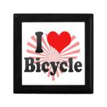 Amo la bicicleta cajas de joyas