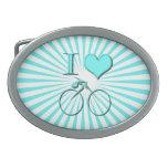 Amo la bicicleta hebilla cinturon