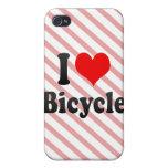 Amo la bicicleta iPhone 4 funda