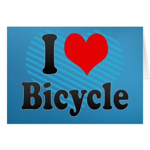 Amo la bicicleta tarjeta de felicitación