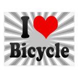 Amo la bicicleta tarjetas postales