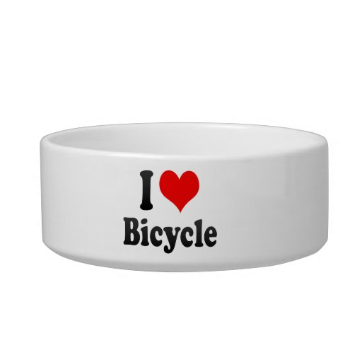 Amo la bicicleta tazones para gatos
