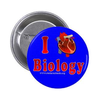 Amo la biología azul pin