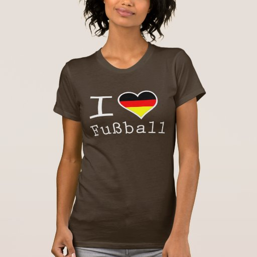 Amo la bola alemana del fusible camiseta