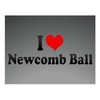 Amo la bola de Newcomb Tarjetas Postales