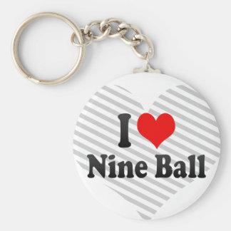 Amo la bola nueve llavero personalizado