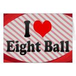 Amo la bola ocho felicitación