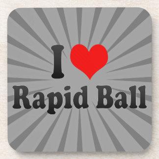 Amo la bola rápida posavasos