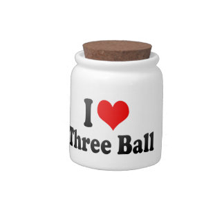 Amo la bola tres platos para caramelos