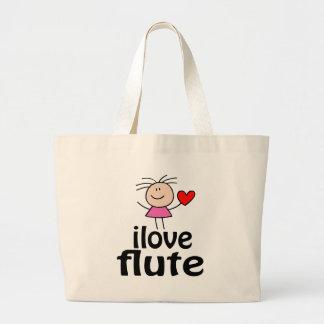 Amo la bolsa de asas de la flauta